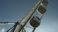 Underside view of a ferris wheel Stock Footage
