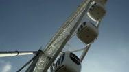 Underside view of a ferris wheel Stock Footage