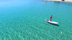 Stand up paddle board Stock Footage