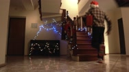 Kids with Christmas presents. Stock Footage