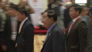 Hun Sen Cambodia PM Stock Footage