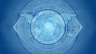 Blue technology video animation Stock Footage