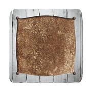 Set 8. rustic wood frame on rusty metal plate. Stock Illustration