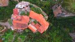 Meteora, Greece, Aerial Stock Footage