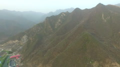 Great Wall of China on a hazy day on the outskirts of Beijing Stock Footage