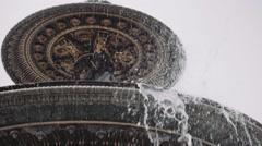 Slow Motion Fountain on place de la concorde, Paris Stock Footage