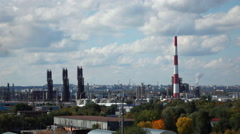 Factory industrial timlapse at cloudy day Stock Footage