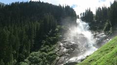 Landscape of Krimml Waterfalls in Pinzgau, Salzburger Land at Austria.  Stock Footage