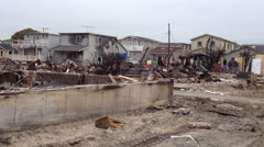 BREEZY POINT, QUEENS, NY-December 2, 2012: Video clip of wreckage and debris Stock Footage
