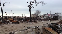 BREEZY POINT, QUEENS, NY-December 2, 2012: Video clip of people carrying boxes Stock Footage