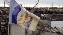 BREEZY POINT, QUEENS, NY - December 2, 2012: Video clip of wreckage and debris Stock Footage