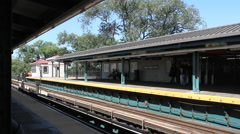 FLUSHING, NEW YORK: US Open Tennis spectators exit the  Train Stock Footage
