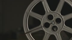 16 mm vintage film projector rolling Stock Footage