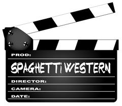 Spaghetti Western Movies Clapperboard Stock Illustration