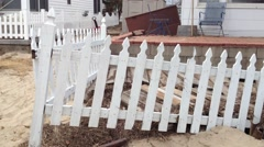 BREEZY POINT, QUEENS, NY-December 2, 2012: Damaged home from waves and storm Arkistovideo