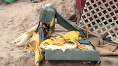 BREEZY POINT, QUEENS, NY-December 2, 2012: Video clip of debris and wreckage Arkistovideo