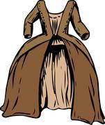 18th Century Round Gown Stock Illustration
