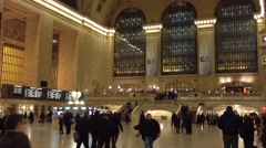 Pedestrians and tourists travel in Grand Central Stock Footage