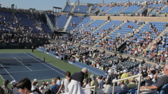 US Open Tennis take their seats at Louie Stock Footage