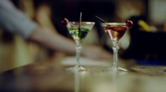 Cleaning a bar counter Stock Footage