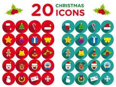 20 christmas icons PSD Template