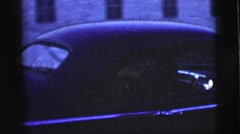 1958: a car arriving on the street and pulling into a parking spot NEW YORK CITY Stock Footage