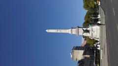 LISBON, PORTUGAL, The Obelisk at Praca dos Restauradores Portugal's liberation Stock Footage