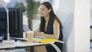 4K Business man & woman working together in modern city office Stock Footage