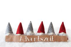Gnomes, White Background, Adventszeit Means Advent Season Stock Photos