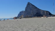 The Rock of Gibraltar from Spain Stock Footage