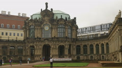 Shot of main entrance of Zwinger Palace in Dresden Stock Footage