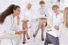 Association of business women Stock Photos