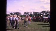 1963: a picnic in a forest area is seen DEVILS LAKE, WISCONSIN Stock Footage