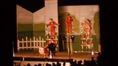 1963: watching a very entertaining and fun show in the evening DEVILS LAKE Stock Footage