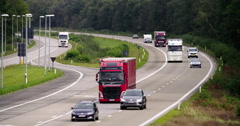Traffic for transport on highway in Belgium and Europe Stock Footage