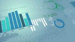 Beautiful 3d animation of Stock Market Information. Financial figures Stock Footage