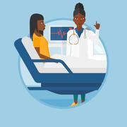 Doctor visiting patient vector illustration Stock Illustration