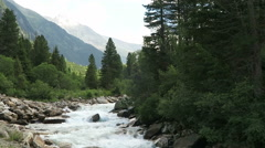 Krimml Achental valley at Krimml waterfalls in Salzburger Land. Austria Stock Footage