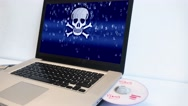 Dolly Shot, Virus Warning In Computer, Hacker Attack Stock Footage