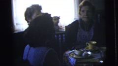 1958: sharing a family meal NEW YORK CITY Stock Footage