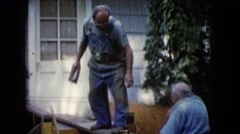 1960: a construction area beside water WAUCONDA, ILLINOIS Stock Footage
