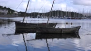 TRADITIONAL AND VINTAGE  BOATS Stock Footage