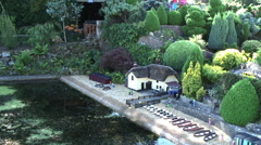 Model of Shanklin Chine at Godshill model village, Isle of Wight Stock Footage