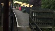 Isle of Wight Steam Railway Smallbrook station Stock Footage