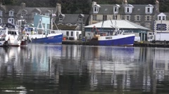 WORK BOATS IN SCOTLAND Stock Footage