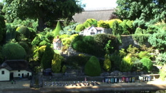 Shanklin Chine Godshill Model village Isle of Wight Stock Footage