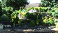 Shanklin Chine Godshill Model village Isle of Wight Stock Footage