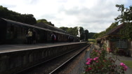 Passengers boarding Isle of Wight Steam Railway Stock Footage