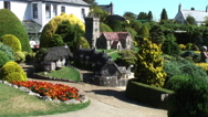 Godshill Model village Isle of Wight Stock Footage