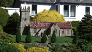 Church Godshill Model village Isle of Wight Stock Footage